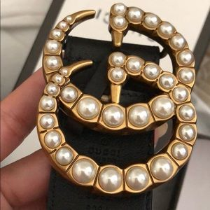 Gucci Double G buckle Pearl Belt